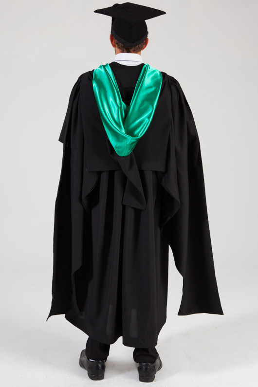 QUT Masters Graduation Gown Set - Education - Back view