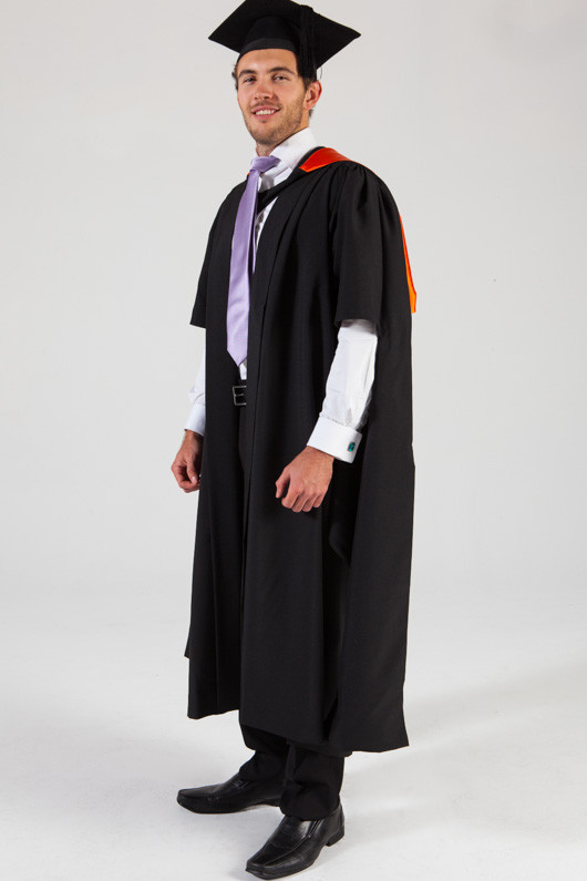 QUT Masters Graduation Gown Set - Health - Front angle view