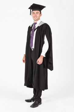 Victoria University Masters Graduation Gown Set - Law - Front view
