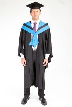 Bachelor Graduation Gown Set for UTS - Information Technology - Front view