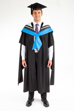 Masters Graduation Gown Set for UTS - Information Technology - Front view