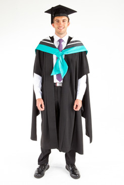 Masters Graduation Gown Set for UTS - Education - Front view