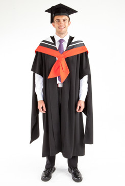 Masters Graduation Gown Set for UTS - Communication - Front view
