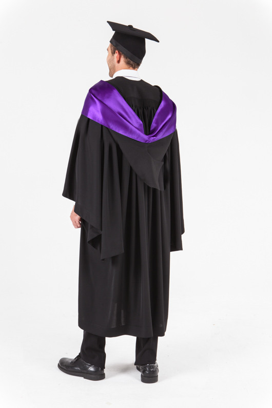 UniSA Bachelor Graduation Gown Set - Education - Back angle view