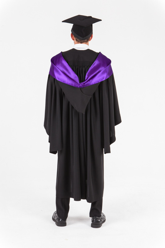 UniSA Bachelor Graduation Gown Set - Education - Back view