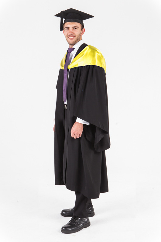 UniSA Bachelor Graduation Gown Set - Society and Culture - Front angle view