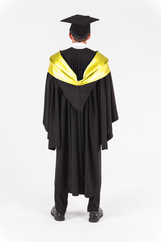 UniSA Bachelor Graduation Gown Set - Society and Culture - Back view