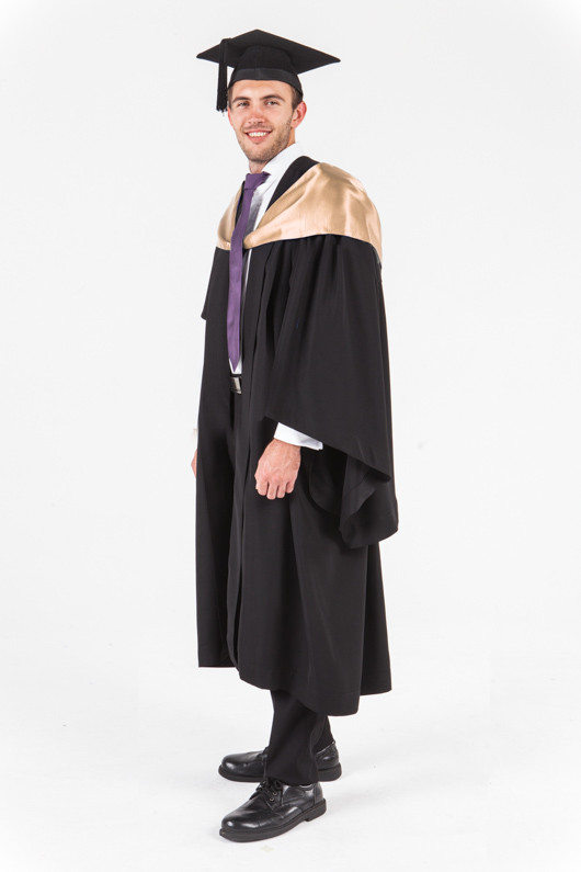 UniSA Bachelor Graduation Gown Set - Information Technology - Front angle view