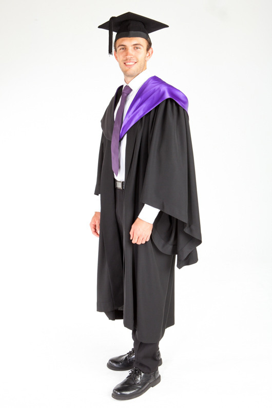 ACU Bachelor Graduation Gown Set - Theology and Philosophy - Front angle view
