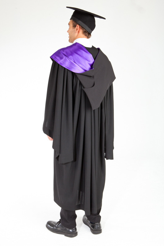 ACU Bachelor Graduation Gown Set - Theology and Philosophy - Back angle view