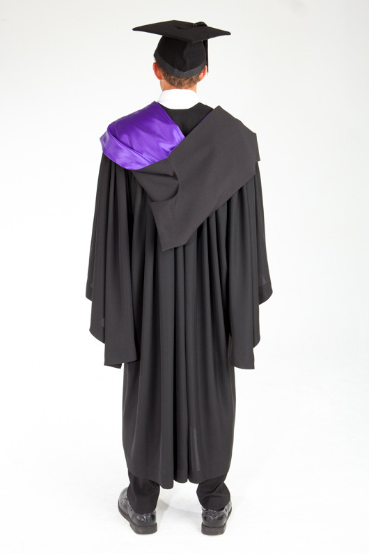 ACU Bachelor Graduation Gown Set - Theology and Philosophy - Back view