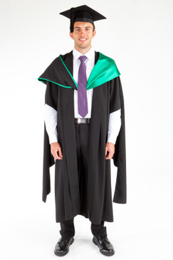 ACU Masters Graduation Gown Set - Education and Arts - Front view