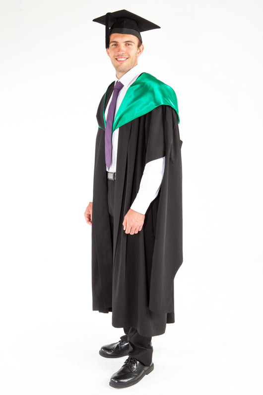 ACU Masters Graduation Gown Set - Education and Arts - Front angle view