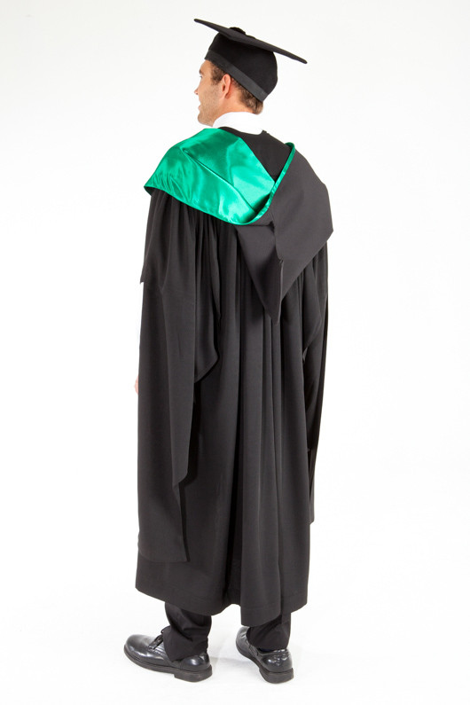 ACU Masters Graduation Gown Set - Education and Arts - Back angle view