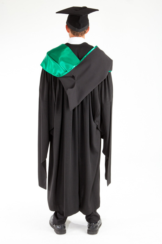 ACU Masters Graduation Gown Set - Education and Arts - Back view