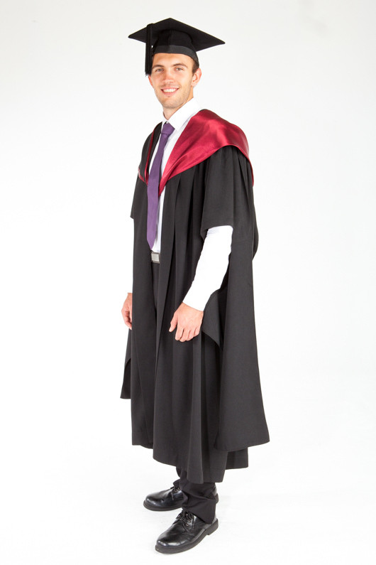 ACU Masters Graduation Gown Set - Law and Business - Front angle view