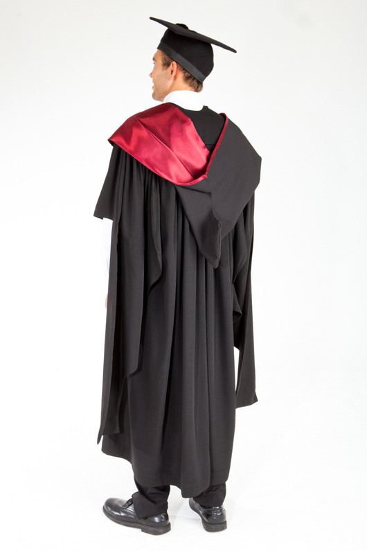 ACU Masters Graduation Gown Set - Law and Business - Back angle view