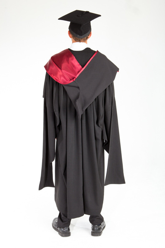 ACU Masters Graduation Gown Set - Law and Business - Back view