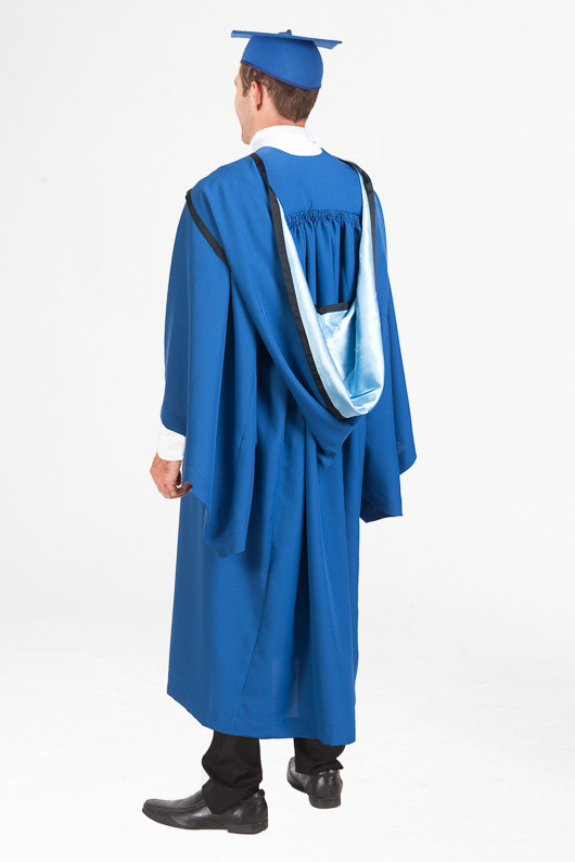Honours Graduation Gown Set for UOW - Standard - Back angle view