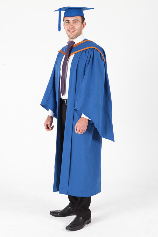 Masters Graduation Gown Set for UOW - Standard - Front angle view