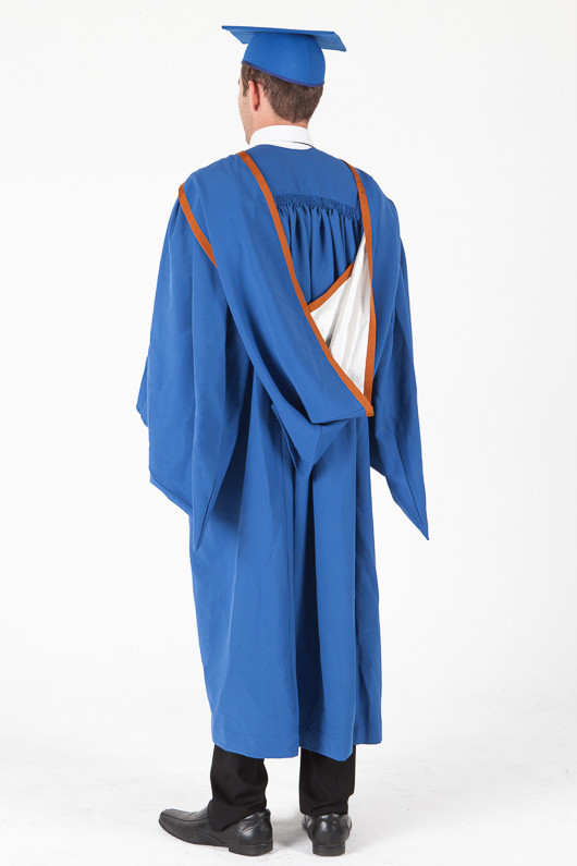 Masters Graduation Gown Set for UOW - Standard - Back angle view