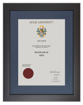 Degree Certificate Frame for Bond University