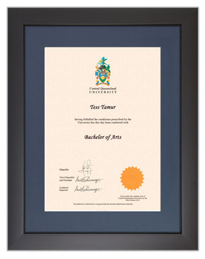 Degree Certificate Frame for Central Queensland University