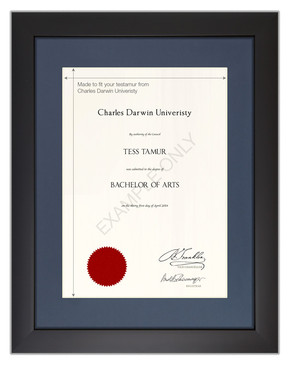 Bachelors Degree Certificate Frame for Charles Darwin University