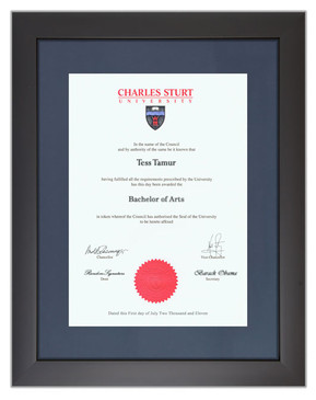Degree Certificate Frame for CSU