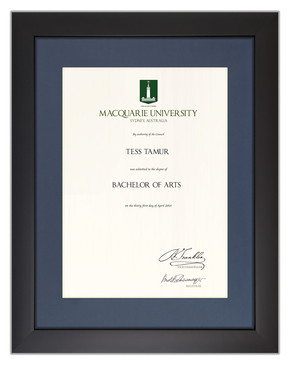 Degree Certificate Frame for Macquarie University