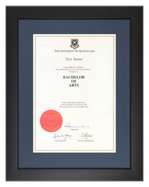 Degree Certificate Frame for UQ