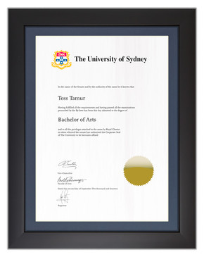 Degree Certificate Frame for University of Sydney
