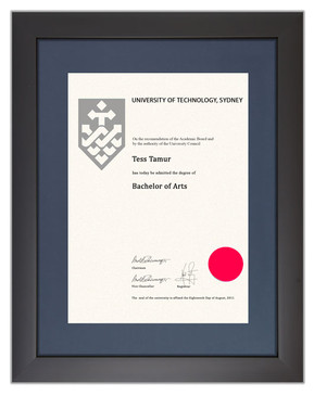 Degree Certificate Frame for UTS
