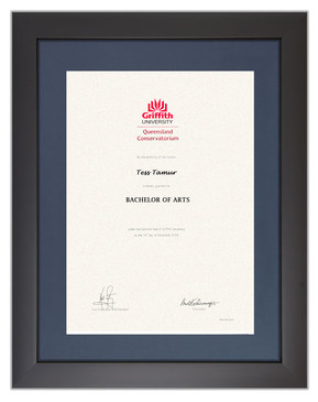Degree Certificate Frame for Griffith University