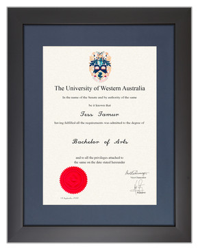 Degree Certificate Frame for University of Western Australia