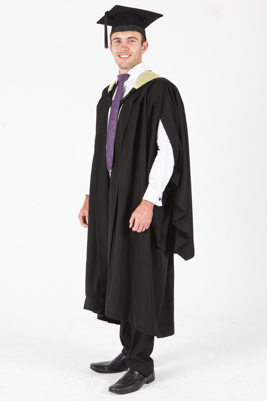 University of Sydney Bachelor Graduation Gown Set - Science - Front angle view