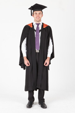 University of Sydney Bachelor Graduation Gown Set - Economics - Front view