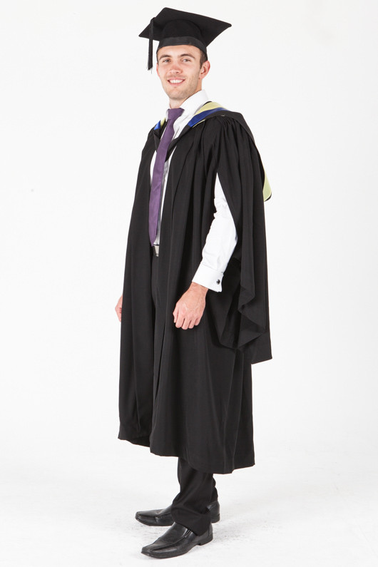University of Sydney Bachelor Graduation Gown Set - Health Science - Front angle view