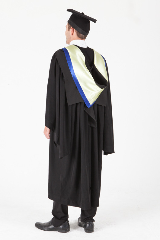 University of Sydney Bachelor Graduation Gown Set - Health Science - Back angle view