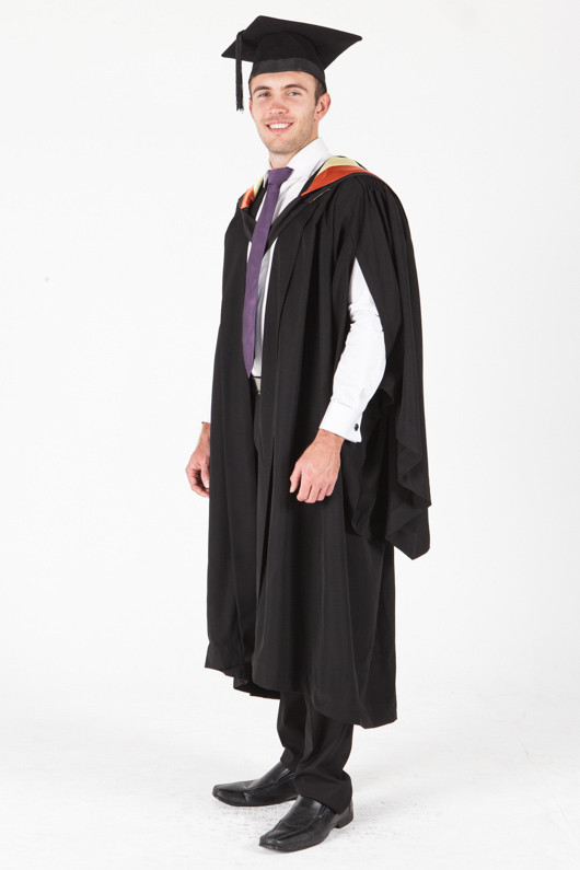 University of Sydney Bachelor Graduation Gown Set - Pharmacy - Front angle view