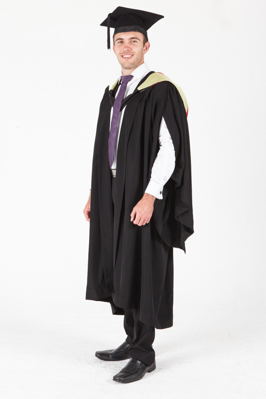 University of Sydney Bachelor Graduation Gown Set - Medical Science - Front angle view