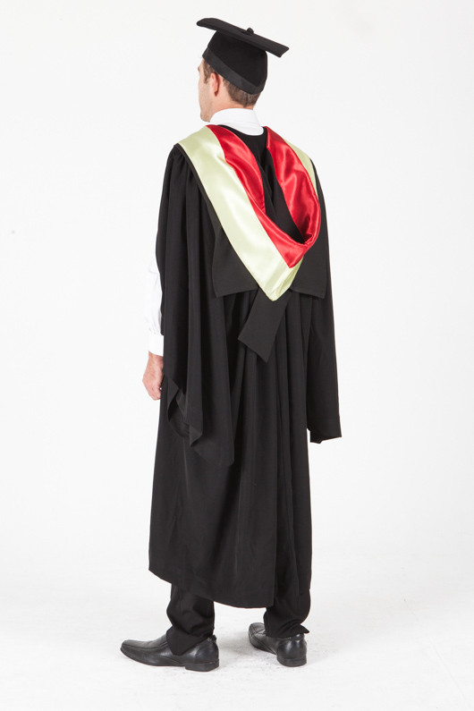 University of Sydney Bachelor Graduation Gown Set - Medical Science - Back angle view