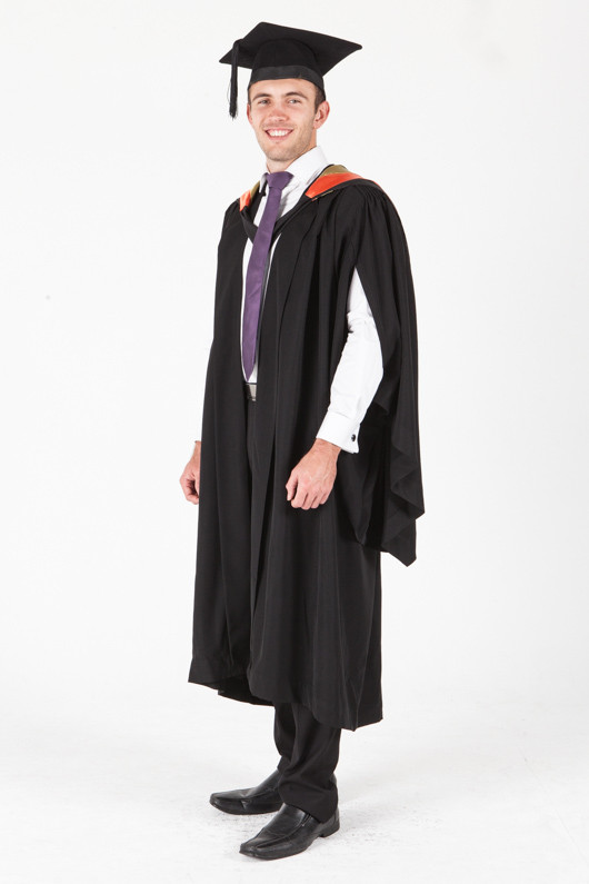 University of Sydney Bachelor Graduation Gown Set - International and Global Studies - Front angle view