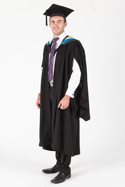 University of Sydney Bachelor Graduation Gown Set - Applied Science - Front angle view
