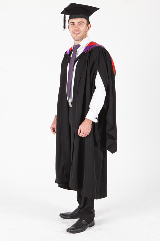 University of Sydney Bachelor Graduation Gown Set - Visual Arts - Front angle view