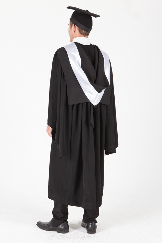 University of Sydney Bachelor Graduation Gown Set - Education - Back angle view