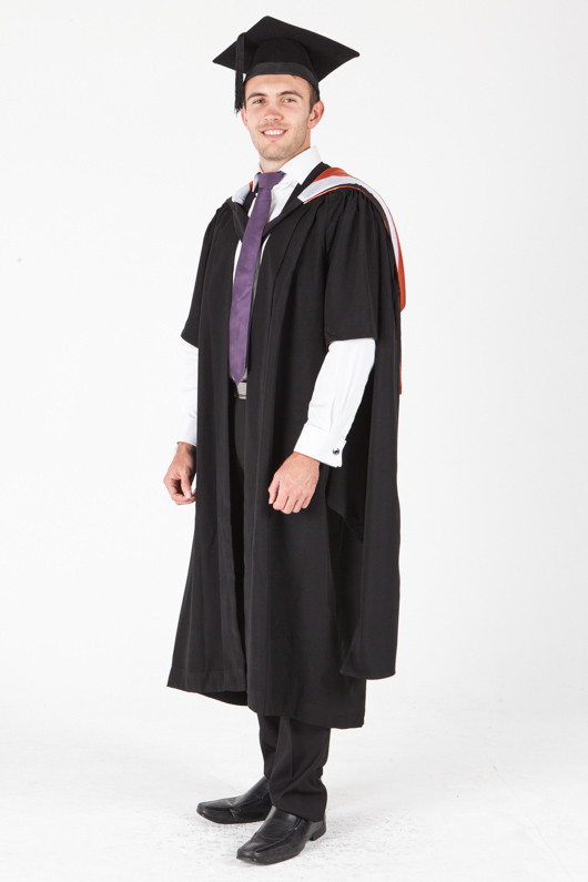 University of Sydney Masters Graduation Gown Set - Commerce - Front angle view