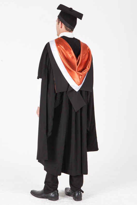 University of Sydney Masters Graduation Gown Set - Commerce - Back angle view