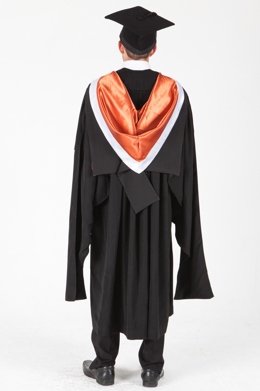 University of Sydney Masters Graduation Gown Set - Commerce - Back view