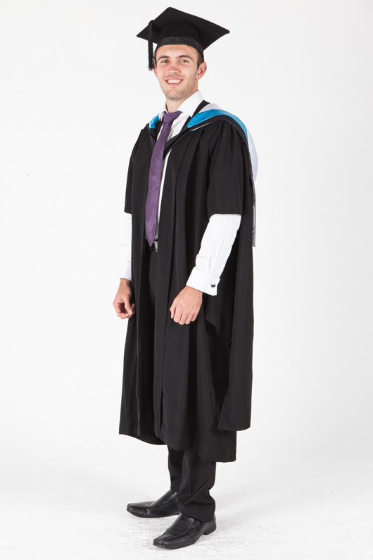 University of Sydney Masters Graduation Gown Set - Nursing - Front angle view